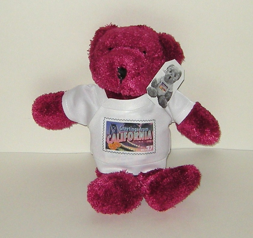 1/2 off! USPS Greetings from CALIFORNIA Plush Bear New w Tag