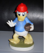 Disney Donald Duck Playing Football Porcelain Figurine - $14.99