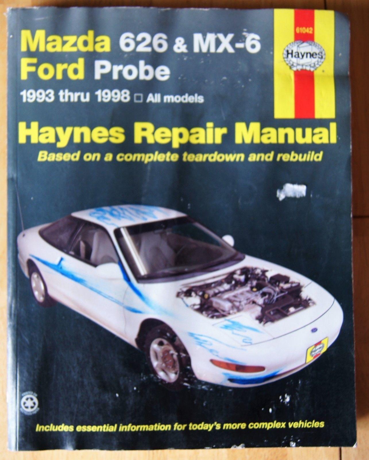 Haynes Repair Manual # 61042 Mazda 626 MX-6 1993 1998 Ford Probe