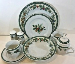 "Fairfield ""Wintergreen"" Fine China 37 Piece Service Dinnerware Set for 6 - $321.75"