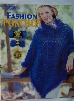 Fashion Ponchos Knit Crochet Leisure Arts Pattern Book