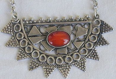 Red moon necklace