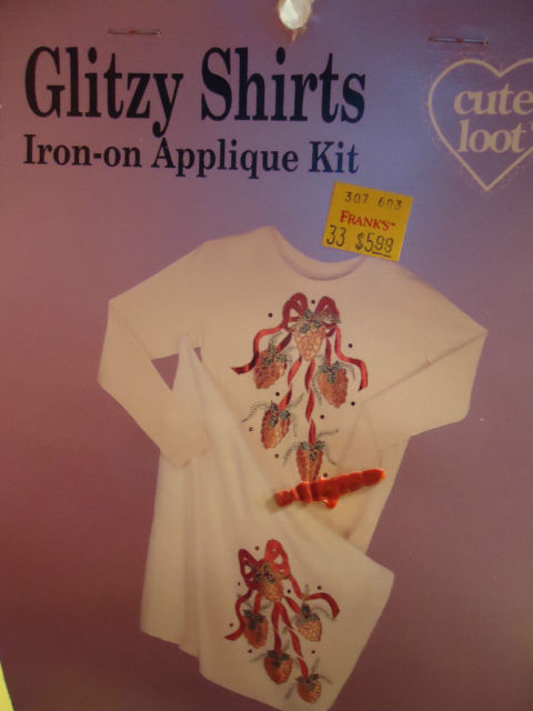 HOLIDAY GLITZY SHIRTS IRON-ON APPLIQUE KITS
