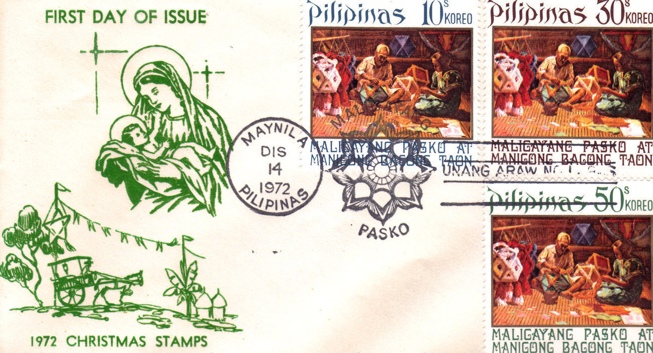 1st day issue xmas stamps