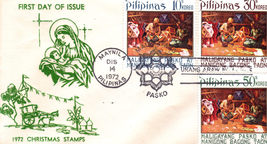 1st Day Issue for 1972 Christmas Stamps Philippines - $1.95