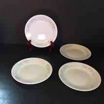 "4 Bread Plates Apricot Grove Corelle 6.75"" Peach Flowers - $12.59"