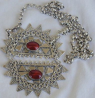 Maskit sun necklace