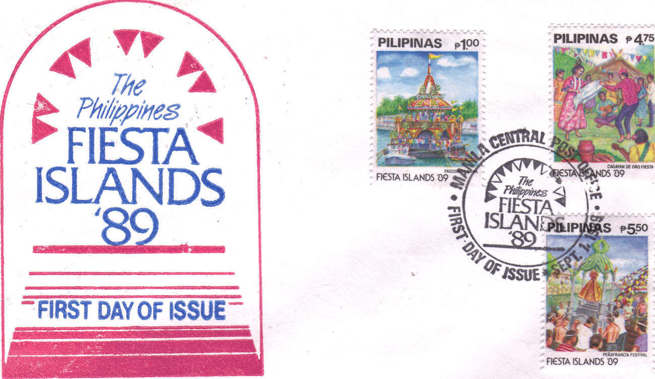 The Philippines FIESTA ISLANDS '89 1st Day Issue Manla 1989