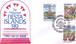 The Philippines FIESTA ISLANDS '89 1st Day Issue Manla 1989 - $1.95