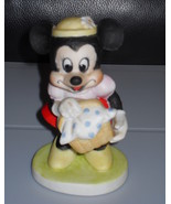 Disney Minnie Mouse Holding Basket Porcelain Figurine - $14.99