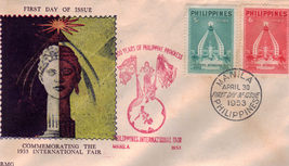 1953 First Philippine International Fair 1st Day Of Issue - $1.95