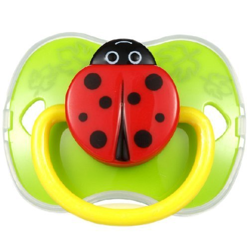 Lovely Ladybird Baby Pacifier Infant Silicone Newborn Nipple GREEN