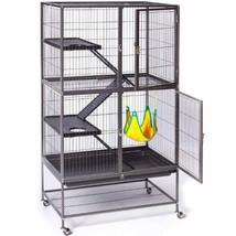 Large Ferret Cage Small Pet Metal Enclosure 3 Platforms Ramps Rabbits Ha... - $188.22