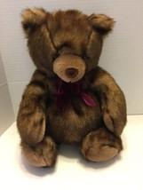 "Carlton Cards Heartwarmers Collection Tan & Brown Really Cute Bear 18"" - $7.69"