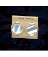 FREE WITH PURCHASE~VINTAGE NEW White Pearlized button pierced Earrings  - $0.00