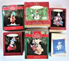 Lot 6 Hallmark Keepsake Christmas Ornaments 1990, 1993, 1994, 2000, 2005... - $24.74
