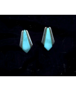 FREE WITH PURCHASE~Light Blue with silver pierced Earrings   - $0.00