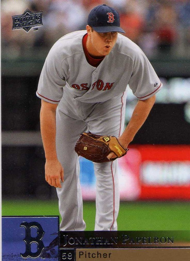 2009 Upper Deck Jonathan Papelbon Boston Red Sox