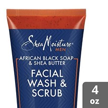 SheaMoisture Face Wash & Face Scrub for Men African Black Soap Face - $20.12