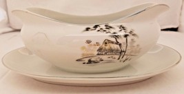 Sone China Mt. Fuji 2215 Gravy Boat With Attached Underplate - $14.03