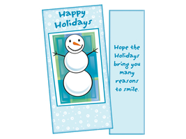 Many Reasons To Smile ~ Christmas Holiday Gift Card or Money Holder - $5.00