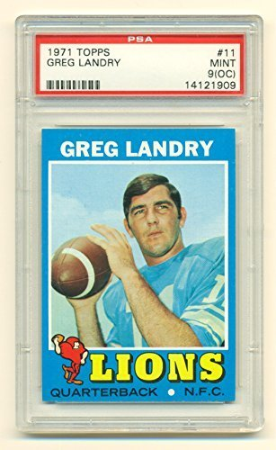 1971 Topps Greg Landry #11 PSA 9 Mint (OC) - Detroit Lions - Football Card