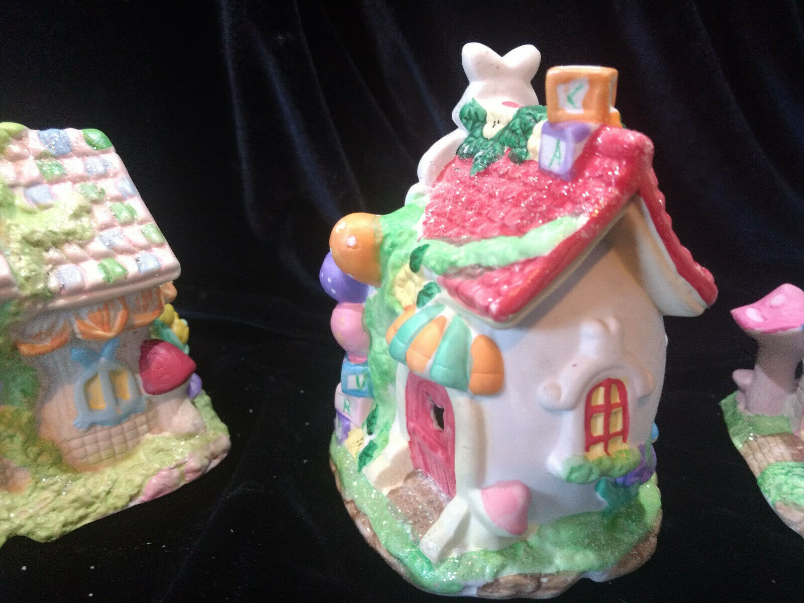 Hoppy Hollow Easter Village Ceramic Houses Set of Three (Lot #4) image 8