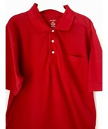 Polo Shirt NEW Tags Puritan Size L Men's Red Short Sleeve Pocket Cotton... - $12.82