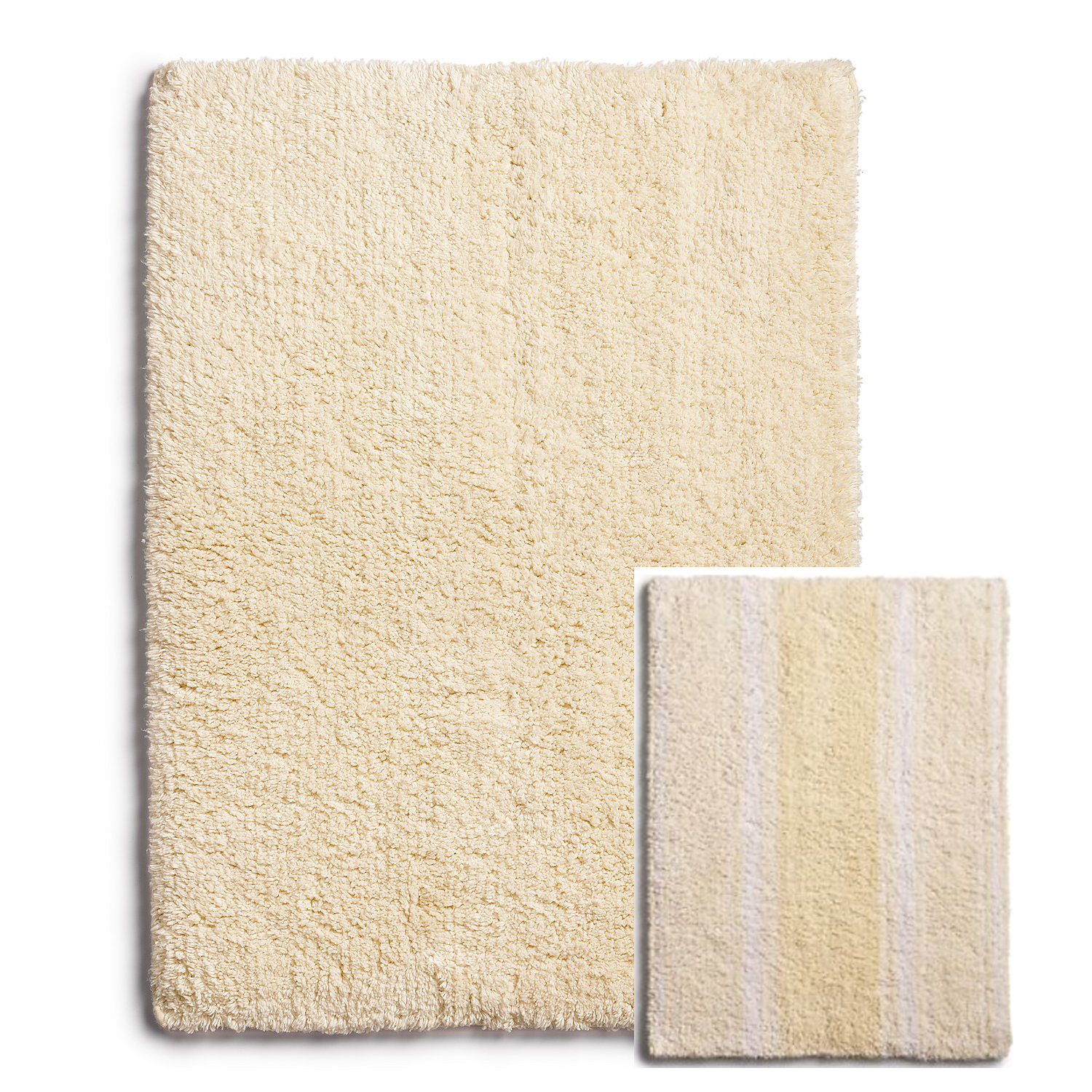 "Primary image for Martha Stewart Collection Cotton Reversible Bath Rug, 17"" x  24"" $40"