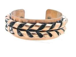 Vintage Matisse RENOIR Copper Flame Cuff Bracelet - $39.60
