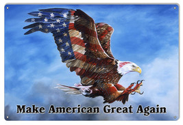 Make America Great Eagle By Artist Donna Wayman 12x18 - $25.74