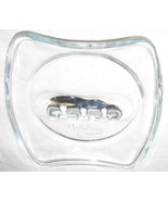 """GLASS DOUBLE LOGO HOLIDAY INN ASHTRAY APPROX 5"""" X 5"""" FREE SHIPPING U.S.A. - $8.63"""