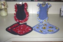 old time dish soap apron set - $10.00