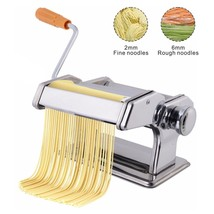 Pasta Maker Roller Machine Silver Stainless Steel Fresh Pasta Noodle Fet... - $27.13