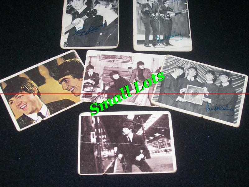 Primary image for Lot Of 6 Beatles Trading Cards From 1960's  - 1st 2nd 3rd Se