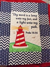 Christian Wall Hanging 16 x 20 Word is a Lamp Psalm 119:105 - $65.00