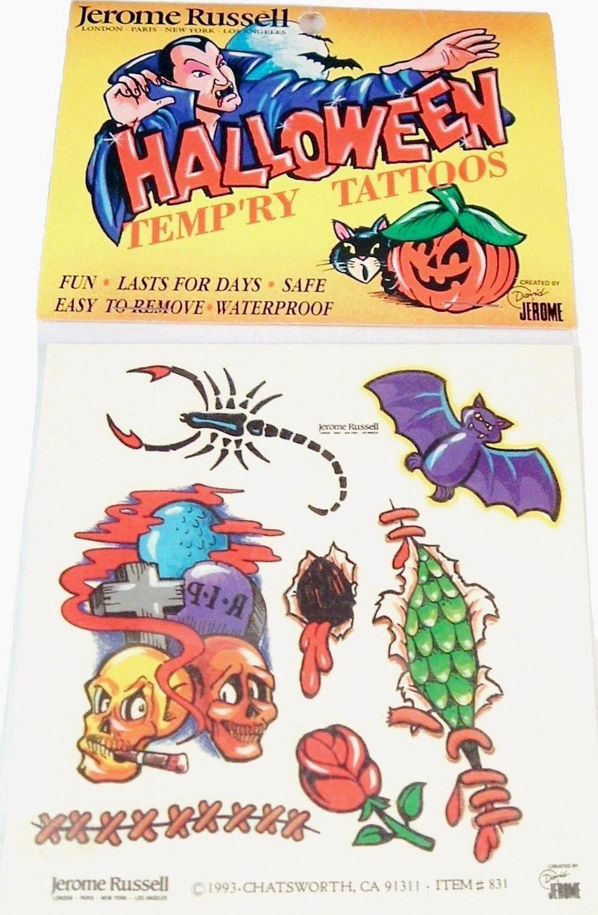 Halloween tattoos 1