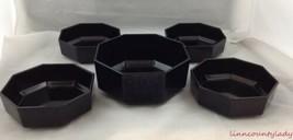 5 Pcs Octime Black Salad Pasta Large Bowl & 4 Unused Cereal Bowls Arcoro... - $39.54