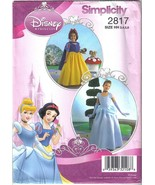Simplicity 2817 Disney Princess Costumes Girls Szs 3 to 6 - $8.99