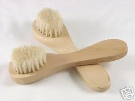 WOODEN FACIAL BRUSH Cleansing Cleanser Scrub Face Wood - $3.95