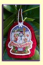 The Snowy Day 2010 Snowglobe Ornament cross stitch chart Blackberry Lane Designs - $14.40