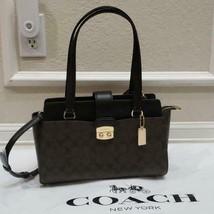 New w tag Coach F 68095 signature carryall shoulder bag Brown/Black - $168.29