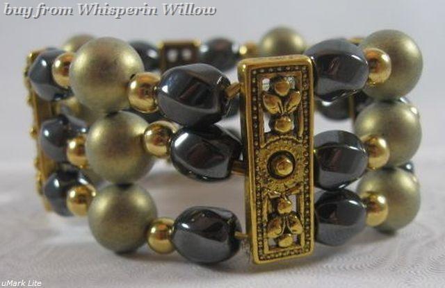 Magnetic hematite fashion bracelet 1