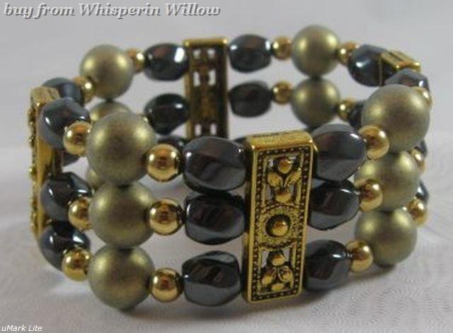 Pittsburgh Penguins Colors Hematite Fashion Bracelet