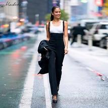 Macheda Black Sleeveless Adjustable Strap Jumpsuits Women Autumn Jumpsuit Long R - $39.94