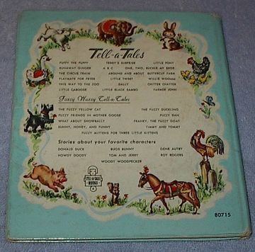 Children's Tell A Tale Book One Two Buckle My Shoe 1951