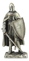 """Ebros Holy Roman Empire Caped Crusader Knight with Sword and Shield Statue 7"""" Ta - $23.99"""