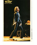 Shaun Cassidy teen magazine pinup clippings 70's black pants on stage Ti... - $3.50