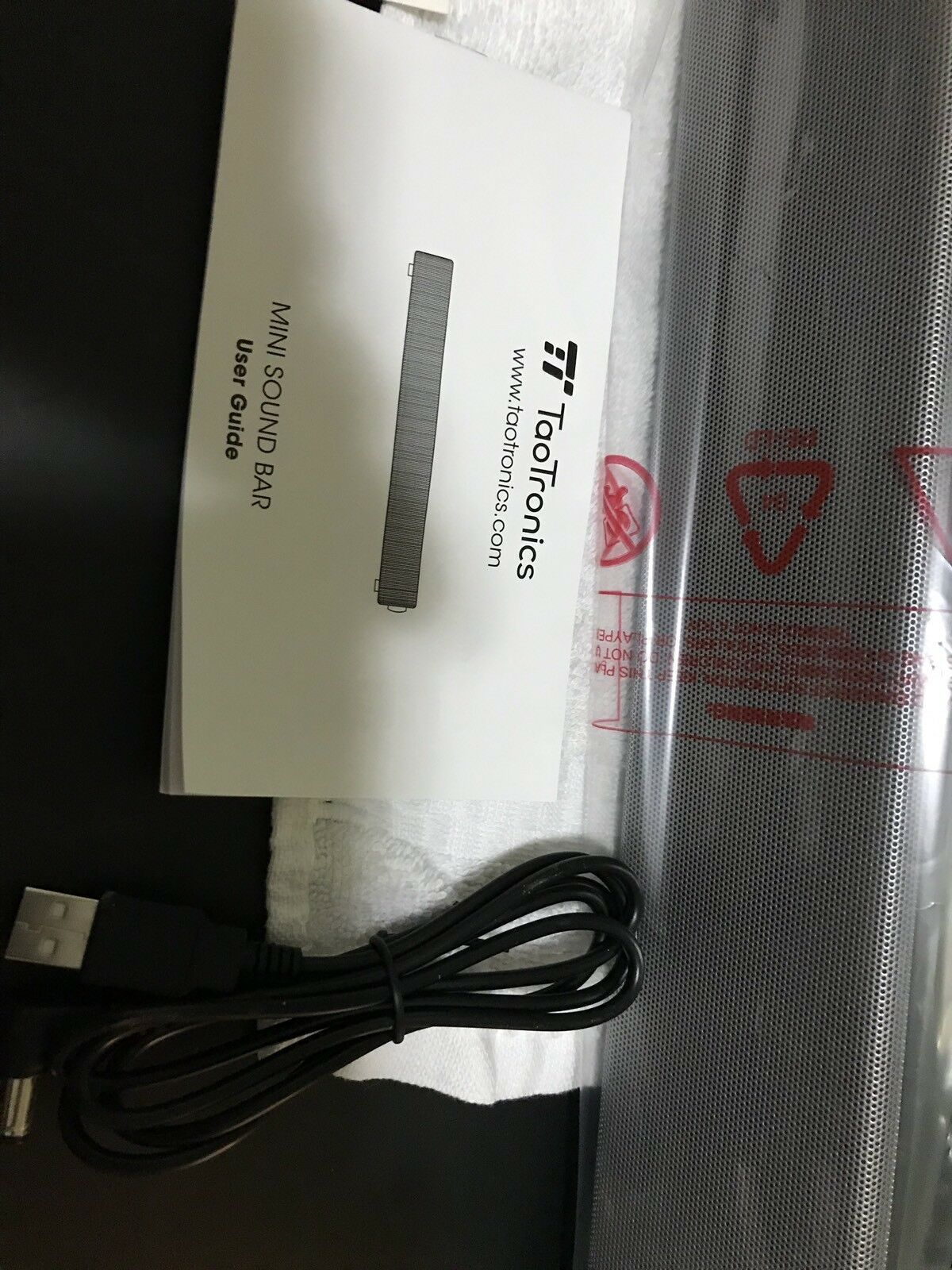 TaoTronics Computer Speakers, Wired Sound Bar, Stereo USB Powered Mini... NEW