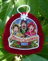 The Carolers 2012 Snowglobe Ornament cross stitch chart Blackberry Lane Des - $14.40
